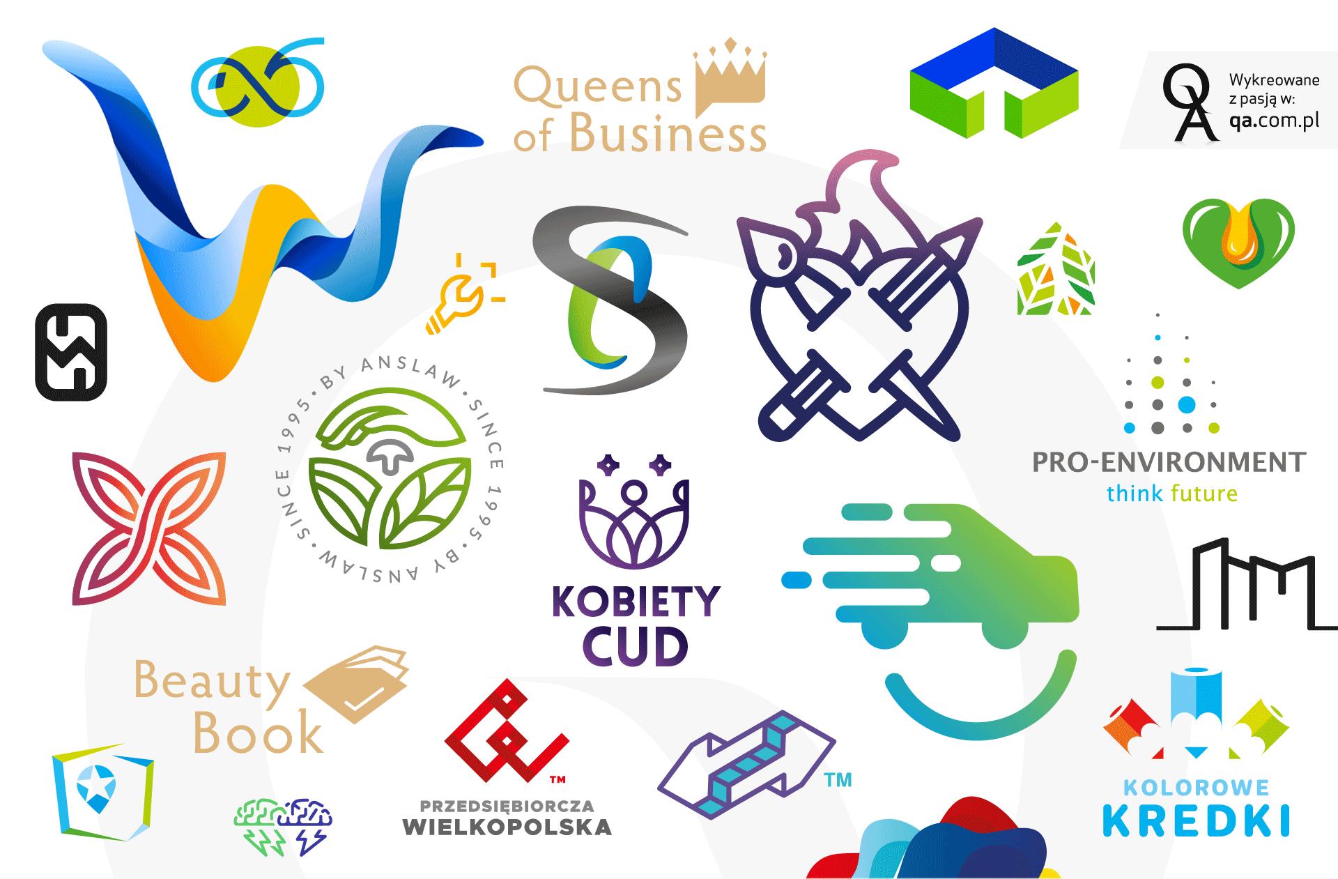Logo i logotyp by QA, identyfikacja wizualna, CI - corporate identity!